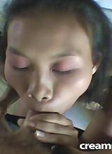 Huge creampie in this Thai beauty!