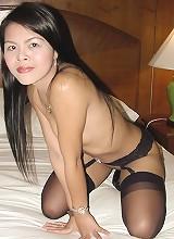 Black garters on Thai