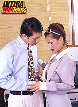 Secretary Intira And Boss Office Sex