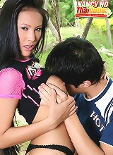 Busty Babe Nancy Ho Outdoor Sex