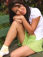 Thai Cutie Deer Bench Strip & Dildo Play