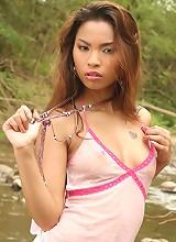 Thai Cutie Amara Plays Naked In River