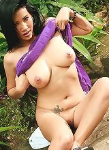 Busty Nancy Ho Toy Masturbation Outdoors