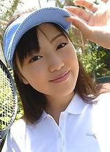 Miyuu Sawai cute swimsuit model in her white bathing suit