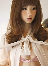 Aki Hoshino strips down to her bra and panties