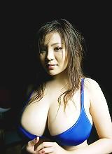 Yoko Matsugane massive cleavage pictures in a maid uniform
