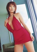 Yuika Hotta Asian cutie in her pink bra and matching panties