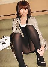 Sumire Aihara in a bikini and sheer black pantyhose
