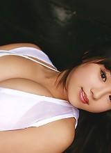 Ai Shinozaki big breasted Asian cutie in a tiny bikini