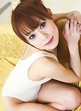 Miina Yoshihara banged hard doggie-style on the bed