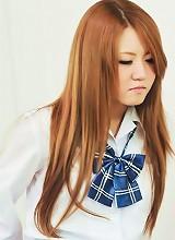 Sweet teen Sakamoto Hikari strips out of her schoolgirl uniform