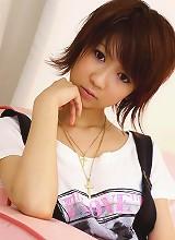 Miriya Hazuki's pussy filled with a rabbit vibrator