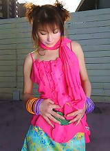Asian cutie in red