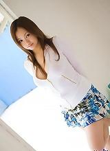 Asian lingerie model
