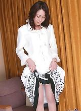 Sexy Rei in a dress