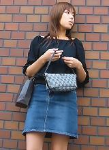 Kana in a mini skirt