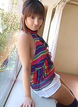 Asian slut in a mini