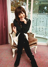 Japanese tramp poses
