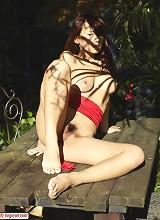 Mayuko Red Scarf