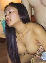Cute girl next door Thai babe sucks and fucks her man