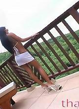 Thainee posing like a movie star