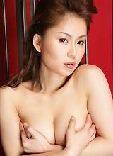 Captured hottie Megu Ayase in white lingerie is posing naked