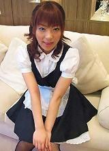 Horny Akane Mochida in maid costume fucks and sucks her bosses cock
