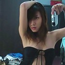 Busty Nancy Ho Strips Denim