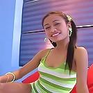 Beautiful asian princess laying around