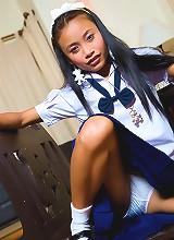 Tiniest pornstar hiding behind innocent school girl look
