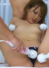 Japanese girl Ai in wild group orgy pleasure