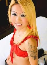 Rare blonde thai bargirl posing sexily
