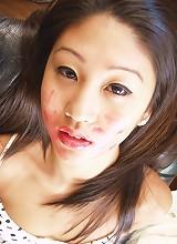 Freaky and kinky korean chick kim plays nude