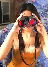 We've caught Make peeping on her neighbor