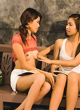 One dildo and three Thai babes